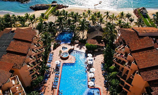 TripAlertz wants you to check out 3-, 4-, or 5-Night All-Inclusive Stay for Two at Friendly Vallarta Beach Resort & Spa in Mexico. Includes Taxes & Fees. All-Inclusive Beachfront Resort in Mexico - All-Inclusive Mexican Resort