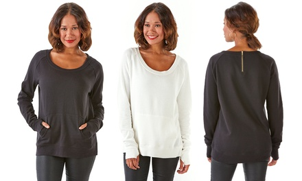 Sociology Sweatshirt with Back Zip & Keyhole  | Groupon Exclusive