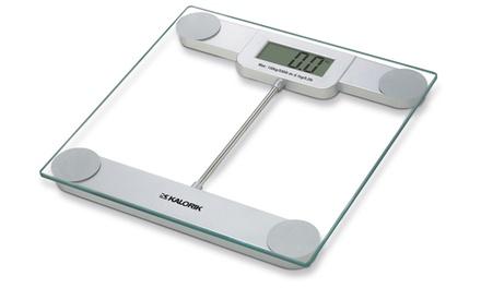 Kalorik Digital Glass Bathroom Scale with LCD Display