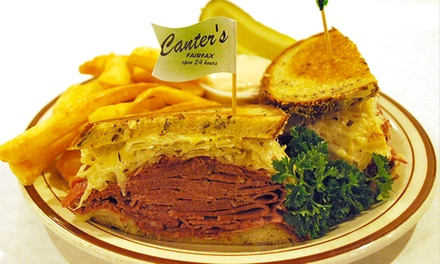 Up to 44% Off Deli Food at Canter's Deli. Two Options Available.