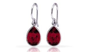 3.00 Ctw Garnet Drop Earrings In Sterling Silver (1 Or 2 Pairs)
