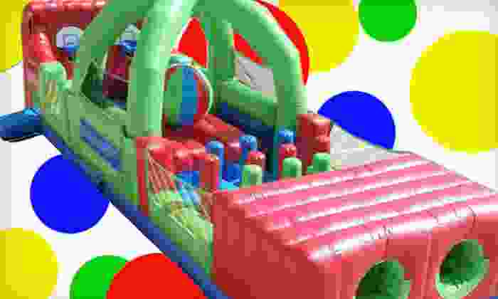 Zonkers - The Great Mall: $11 for Bounce-House Entry for Four and 12 Arcade-Game Tokens at Zonkers ($23 Value)