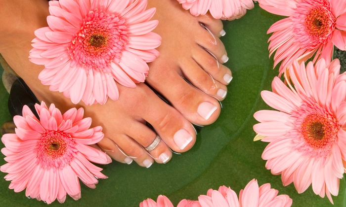 Essential Nail Spa - Lincoln Park: Two Express Mani-Pedis or Five Gelish LED No-Chip Manicures at Essential Nail Spa (Up to 55% Off)