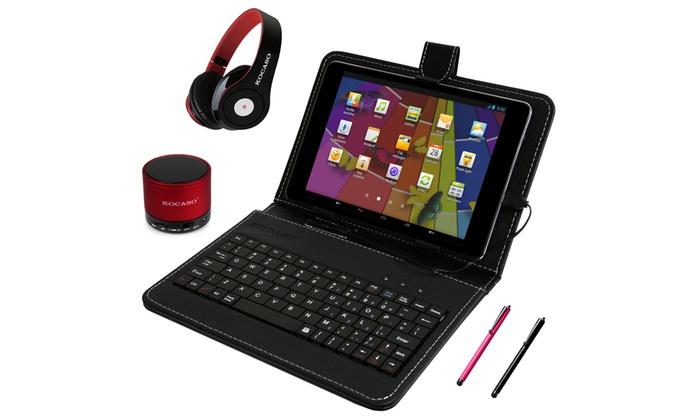 Kocaso K-Mini Quad-Core Android 4.4 Tablet Bundle