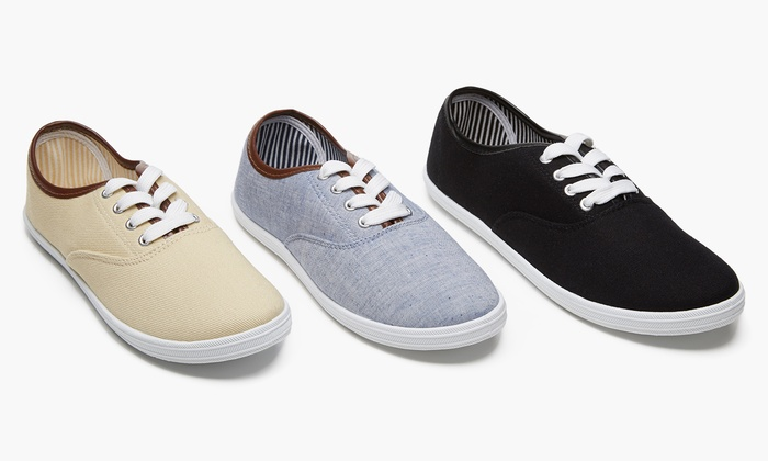 Form + Focus Women's Lace-Up Sneakers | Groupon Exclusive