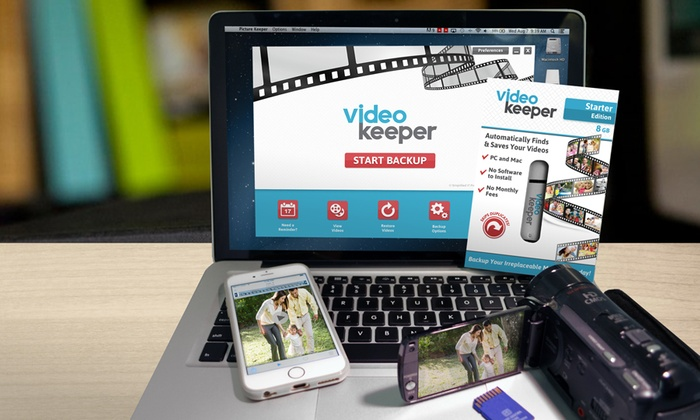 Video Keeper: USB Video Backup Drive From Video Keeper. 3 Size Options Available. (Up to 70% Off)