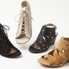 XOXO Women's Wedge Sandals