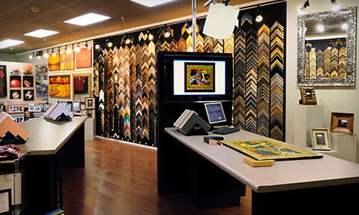 """Hall of Frames - Multiple Locations: Custom Framing or a Framed 66""""x40"""" Mirror at Hall of Frames (Up to 67% Off). Three Options Available."""