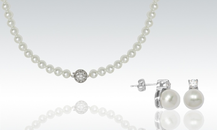 Imitation Pearl Jewelry: Imitation Pearl Necklace and Earrings (Up to 85% Off). Free Shipping on Purchases of $15 or More. Free Returns.