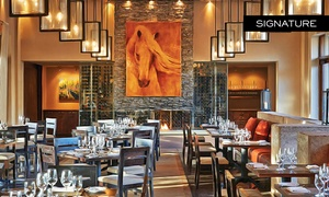 Terra: Four-Course Dinner with Wine for Two or Four at Terra (Up to 42% Off)