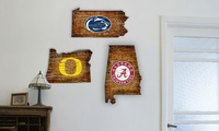 NCAA Wood College State Sign