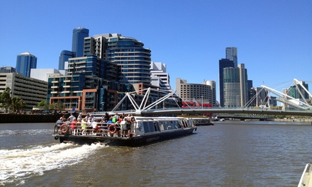 Sightseeing Cruise: 1 $7 or 2 $14 Kids $8, 1 $15 or 2 Adults $27 or Family $40 from Melbourne River Cruises