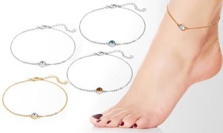 Bracelets de cheville de la marque The Gemseller ornés de cristaux Swarovski®