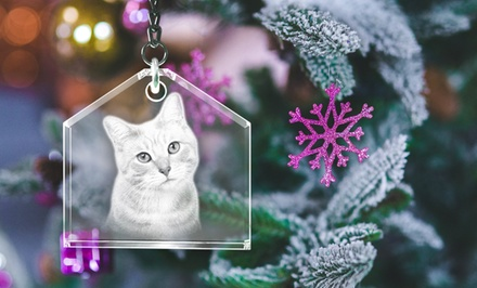 One, Two, or Three Personalized Christmas Ornaments from 3D Laser Gifts (Up to 60% Off)