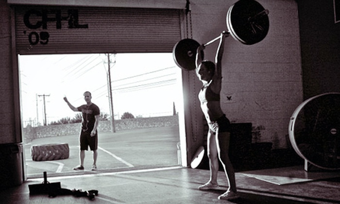 The Human Lab - Pacific Park: 12 CrossFit Classes or Four Weeks of Unlimited Classes with 1 Foundations Course at The Human Lab (Up to 72% Off)