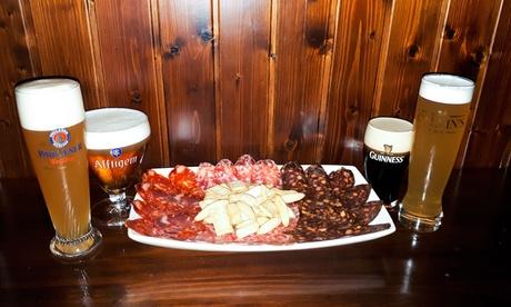 Degustación de cervezas para 2 o 4 personas con ibéricos de Guijuelo desde 10,95€ en The Clover Irish Tavern Mirasierra