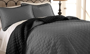 3-piece Reversible Quilted Coverlet Set. Multiple Colors Available. Free Returns.