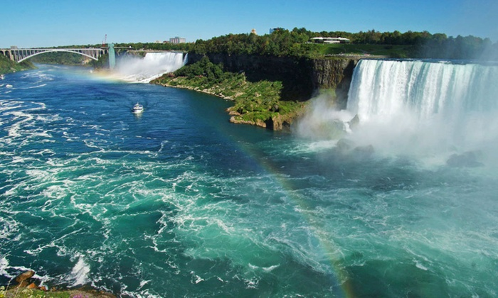 Ramada Hotel Niagara Falls Fallsview - Niagara Falls, ON: Stay with Wine Tour and Dining Credits at Ramada Hotel Niagara Falls Fallsview in Ontario. Dates into December.