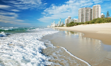 Gold Coast: 2, 3 or 5 Nights for Two or Three People with Late CheckOut and WiFi/Netflix at Outrigger Burleigh
