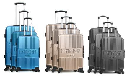 Set 3 valises en ABS Infinitif Paris