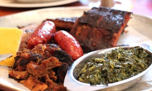 SuzyQue's BBQ & Bar: Meals for Two with Drinks at SuzyQue's BBQ & Bar (Up to 47% Off)