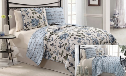 Bella 3-Piece Reversible Quilt Set