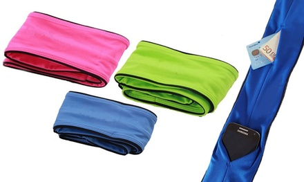 Fascia da corsa con tasca disponibile in 3 colori e 2 taglie