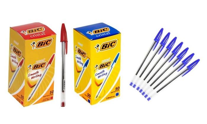 10 50 ou 100 stylos bille bic groupon shopping for Bille en tete alexandre jardin