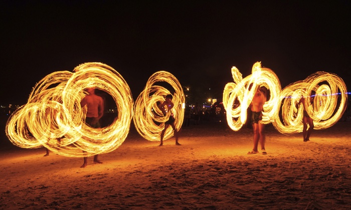 DYF Studios - Southeast Calgary: Four-Week Intro to Fire Spinning or Hula Hooping Class at DYF Studios (Up to 52% Off)
