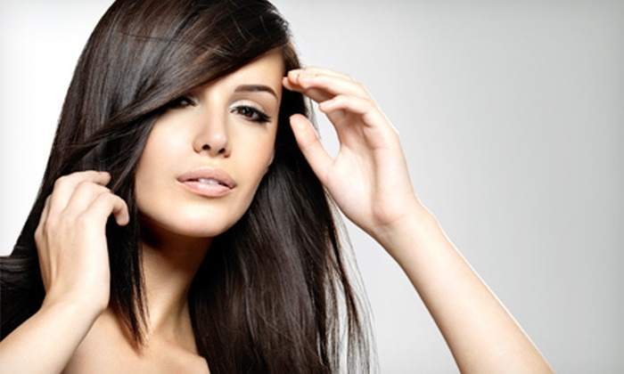 Euro Nail Spa - Multiple Locations: Women's Haircut and Style or Brazilian Blowout at Euro Nail Spa (Up to 55% Off)