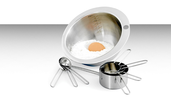 9-Piece Mix and Measure Set: 9-Piece Stainless Steel Mix and Measure Set. Free Returns.