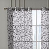 Ariana Flocked Grommet Curtain-Panel Pair