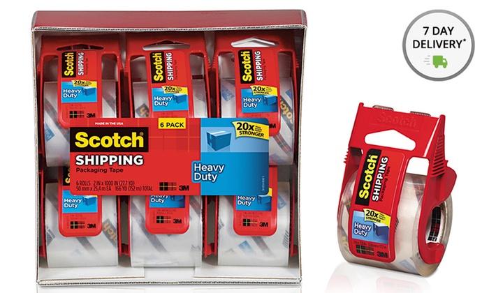 6-Pack of Heavy-Duty Packaging Tape in Sure-Start Dispenser: 6-Pack of Heavy-Duty Packaging Tape in Sure-Start Dispensers