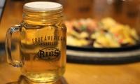 6 o 12 jarras de cerveza con 1 o 2 entrantes desde 6,95 € en Ribs
