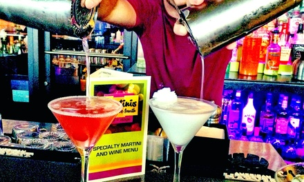 Sunday Disco Brunch for Two or Four or Svedka Martinis and Appetizers at Martinis Above Fourth (Up to 50% Off)