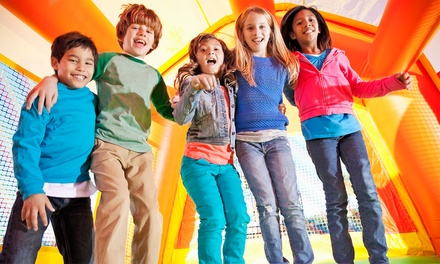 Two Groupons, Each Good for One Inflatable Open-Play Pass for One or Two Kids at Run Jump-n-Play (Up to 53% Off)