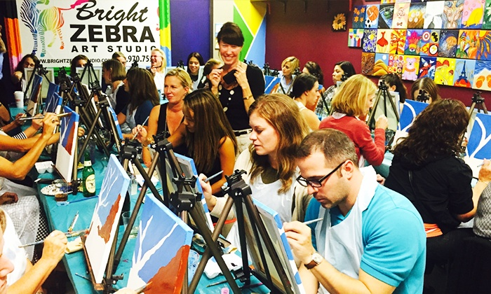 Bright Zebra Art Studio - Matawan: BYOB Adult Painting Party for One or Two at Bright Zebra Art Studio (Up to 62% Off)
