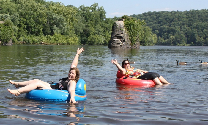 Bucks County River Country, Inc. - Point Pleasant Bucks County: Tubing for One, Two, or Four from Bucks County River Country, Inc. (Up to 41% Off). Six Options Available.