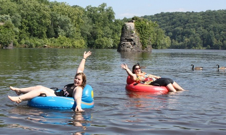 Tubing for One, Two, or Four from Bucks County River Country, Inc. (Up to 41% Off). Six Options Available.