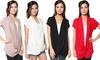 Women's Short Sleeve Criss-Cross Top: Women's Short Sleeve Criss-Cross Top