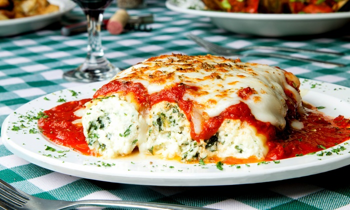 Cafe Riviera - Bensalem: Italian Food for Two or Four or Pizza and Pasta Family Meal at Café Riviera (Up to 41% Off)