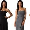 Women's Strapless Shirred Maxi Dress