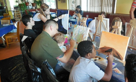 Youth Painting Session for One or Two, or Youth Private Painting Session for 10 at Art By The Glazz (Up to 60% Off)