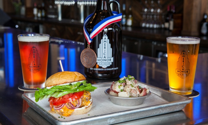 American Honor Ale House & Brewery - Hickory: Brewery Package for Two or Four at American Honor Ale House & Brewery (Up to 44% Off)