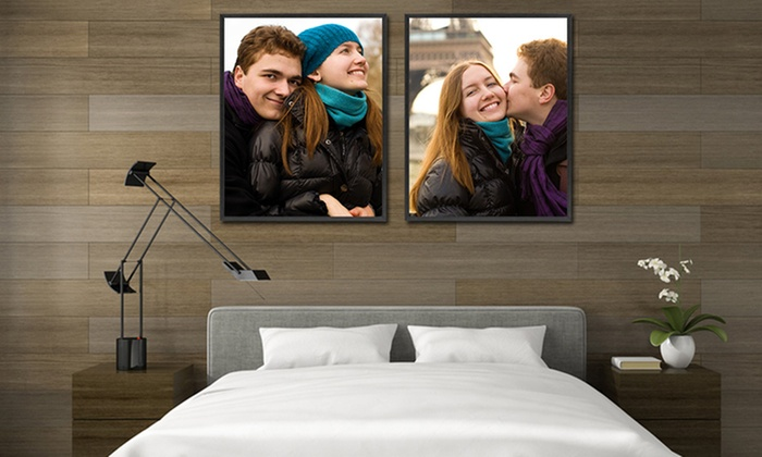 Picture It On Canvas: Custom Framed Gloss Poster from Picture It On Canvas (Up to 72% Off). Four Options Available.