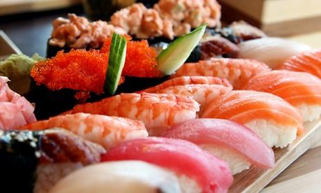 Menú japonés para dos o cuatro con entrante, arroz, sushi, postre y bebida desde 24,95 € junto a El Matadero Oferta en Groupon