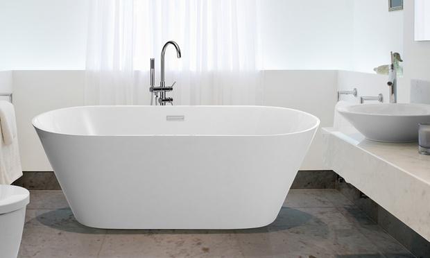 Beliani deal des tages groupon - Pose baignoire acrylique ...