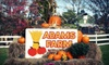 Up to 49% Off Fall Family Outing at Adam's Farm
