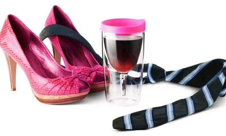 Two-Pack of Vino-2-Go Portable Wineglasses or Asobu Ice Travel Cups