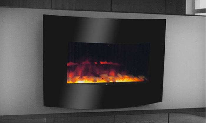 Warm House Electric Fireplace: $159 for a Warm House Curved-Glass Electric Fireplace ($399.99 List Price). Free Shipping.